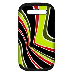 Colors Of 70 s Samsung Galaxy S Iii Hardshell Case (pc+silicone) by Valentinaart