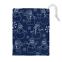 Winter Snowman Pattern Drawstring Pouches (extra Large)
