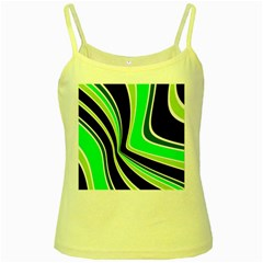 Colors of 70 s Yellow Spaghetti Tank by Valentinaart