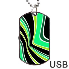 Colors Of 70 s Dog Tag Usb Flash (two Sides)  by Valentinaart