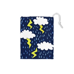 Thunderstorms Drawstring Pouches (small)