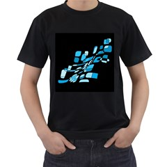 Blue Abstraction Men s T Shirt (black) by Valentinaart
