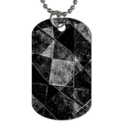 Dark Geometric Grunge Pattern Print Dog Tag (two Sides) by dflcprints