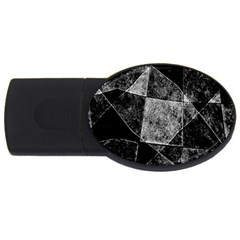 Dark Geometric Grunge Pattern Print Usb Flash Drive Oval (2 Gb)  by dflcprints