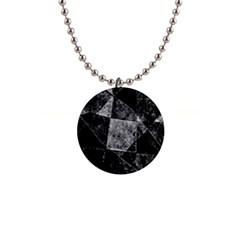 Dark Geometric Grunge Pattern Print Button Necklaces by dflcprints