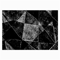 Dark Geometric Grunge Pattern Print Large Glasses Cloth (2 Side) by dflcprints