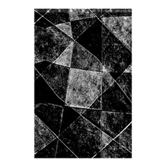 Dark Geometric Grunge Pattern Print Shower Curtain 48  X 72  (small)  by dflcprints