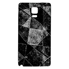 Dark Geometric Grunge Pattern Print Galaxy Note 4 Back Case by dflcprints