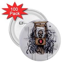 Guillotine Heart 2 25  Buttons (100 Pack)  by lvbart