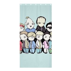 Goonies Vs Monster Squad Shower Curtain 36  X 72  (stall)  by lvbart