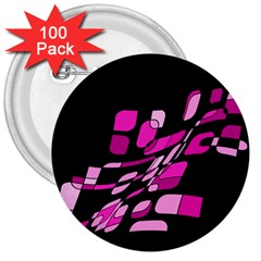 Purple Abstraction 3  Buttons (100 Pack)  by Valentinaart