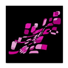 Purple abstraction Face Towel by Valentinaart