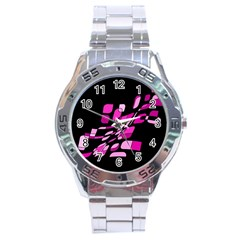 Purple abstraction Stainless Steel Analogue Watch by Valentinaart