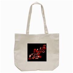 Orange Abstraction Tote Bag (cream) by Valentinaart