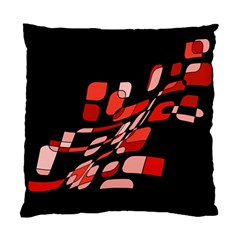 Orange abstraction Standard Cushion Case (Two Sides) by Valentinaart