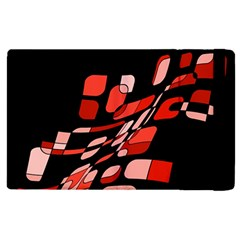 Orange Abstraction Apple Ipad 3/4 Flip Case by Valentinaart