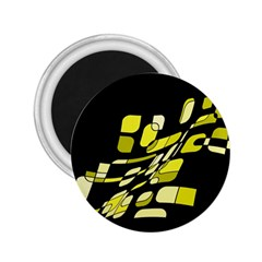 Yellow Abstraction 2 25  Magnets by Valentinaart