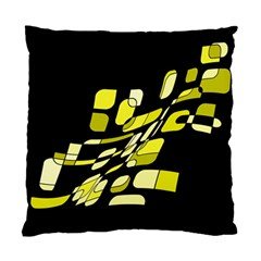 Yellow Abstraction Standard Cushion Case (two Sides) by Valentinaart