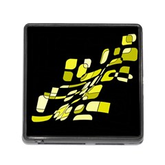 Yellow abstraction Memory Card Reader (Square) by Valentinaart