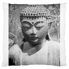 Buddha Large Flano Cushion Case (one Side) by morbidcandy