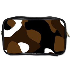 Black Brown And White Abstract 3 Toiletries Bags 2 Side by TRENDYcouture