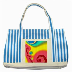Distinction Striped Blue Tote Bag by TRENDYcouture