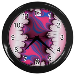 Liquid Roses Wall Clocks (black) by TRENDYcouture