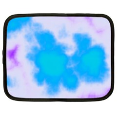 Blue And Purple Clouds Netbook Case (large) by TRENDYcouture