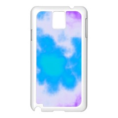 Blue And Purple Clouds Samsung Galaxy Note 3 N9005 Case (white) by TRENDYcouture
