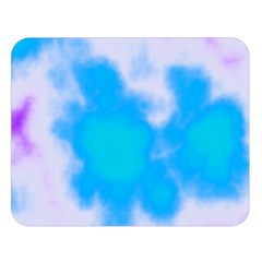Blue And Purple Clouds Double Sided Flano Blanket (large)  by TRENDYcouture
