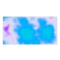 Blue And Purple Clouds Satin Shawl by TRENDYcouture