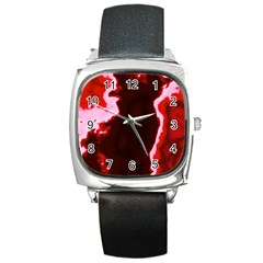 Crimson Sky Square Metal Watch by TRENDYcouture