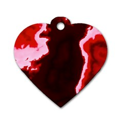 crimson sky Dog Tag Heart (Two Sides)