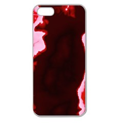 Crimson Sky Apple Seamless Iphone 5 Case (clear) by TRENDYcouture