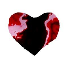 crimson sky Standard 16  Premium Heart Shape Cushions