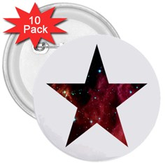 Star 3  Buttons (10 Pack)  by itsybitsypeakspider
