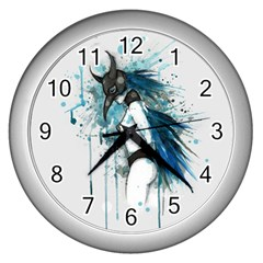 Caged Bird Wall Clocks (silver)  by lvbart
