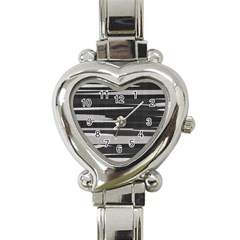 Gray Camouflage Heart Italian Charm Watch by TRENDYcouture