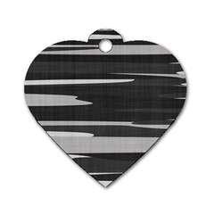 Gray Camouflage Dog Tag Heart (one Side) by TRENDYcouture