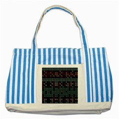 Triangles                                                                               striped Blue Tote Bag by LalyLauraFLM