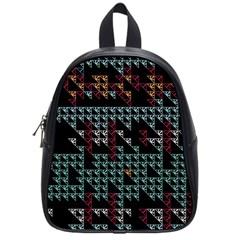 Triangles                                                                               school Bag (small) by LalyLauraFLM