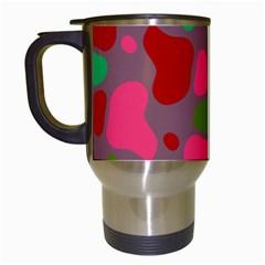 Spots                                                                                Travel Mug (white) by LalyLauraFLM