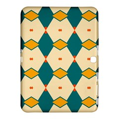 Blue Yellow Rhombus Pattern                                                                                 			samsung Galaxy Tab 4 (10 1 ) Hardshell Case by LalyLauraFLM