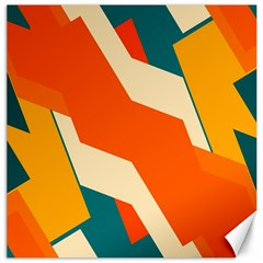 Shapes In Retro Colors                                                                                  			canvas 16  X 16  by LalyLauraFLM