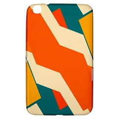 Shapes in retro colors                                                                                  Samsung Galaxy Tab 3 (8 ) T3100 Hardshell Case by LalyLauraFLM