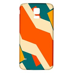 Shapes In Retro Colors                                                                                  			samsung Galaxy S5 Back Case (white) by LalyLauraFLM
