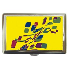 Yellow Abstraction Cigarette Money Cases by Valentinaart