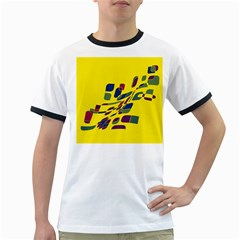 Yellow Abstraction Ringer T Shirts by Valentinaart