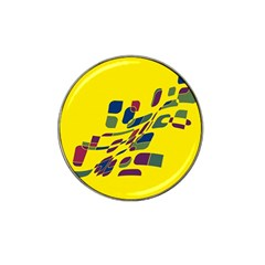 Yellow Abstraction Hat Clip Ball Marker (4 Pack) by Valentinaart
