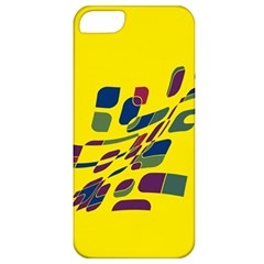 Yellow Abstraction Apple Iphone 5 Classic Hardshell Case by Valentinaart
